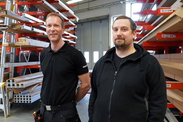 Montører Henrik Rönn og Niclas Hellgren